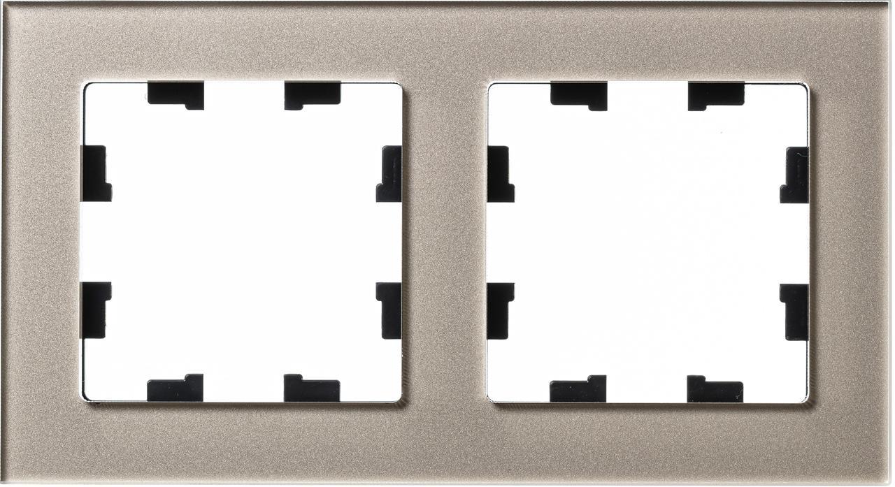 Рамка 2-ая (двойная), Стекло Шампань, серия Atlas Design Nature, Schneider Electric