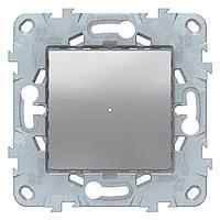 Диммер нажимной (кнопочный) 300Вт универсальный , Алюминий, серия Unica New, Schneider Electric
