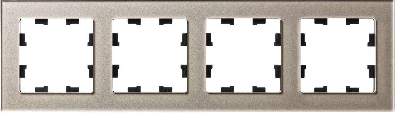 Рамка 4-ая (четверная), Стекло Шампань, серия Atlas Design Nature, Schneider Electric