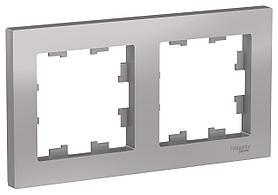 Рамка 2-ая (двойная), Алюминий, серия Atlas Design, Schneider Electric