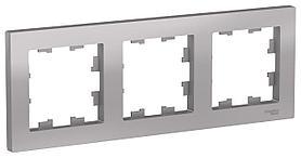 Рамка 3-ая (тройная), Алюминий, серия Atlas Design, Schneider Electric