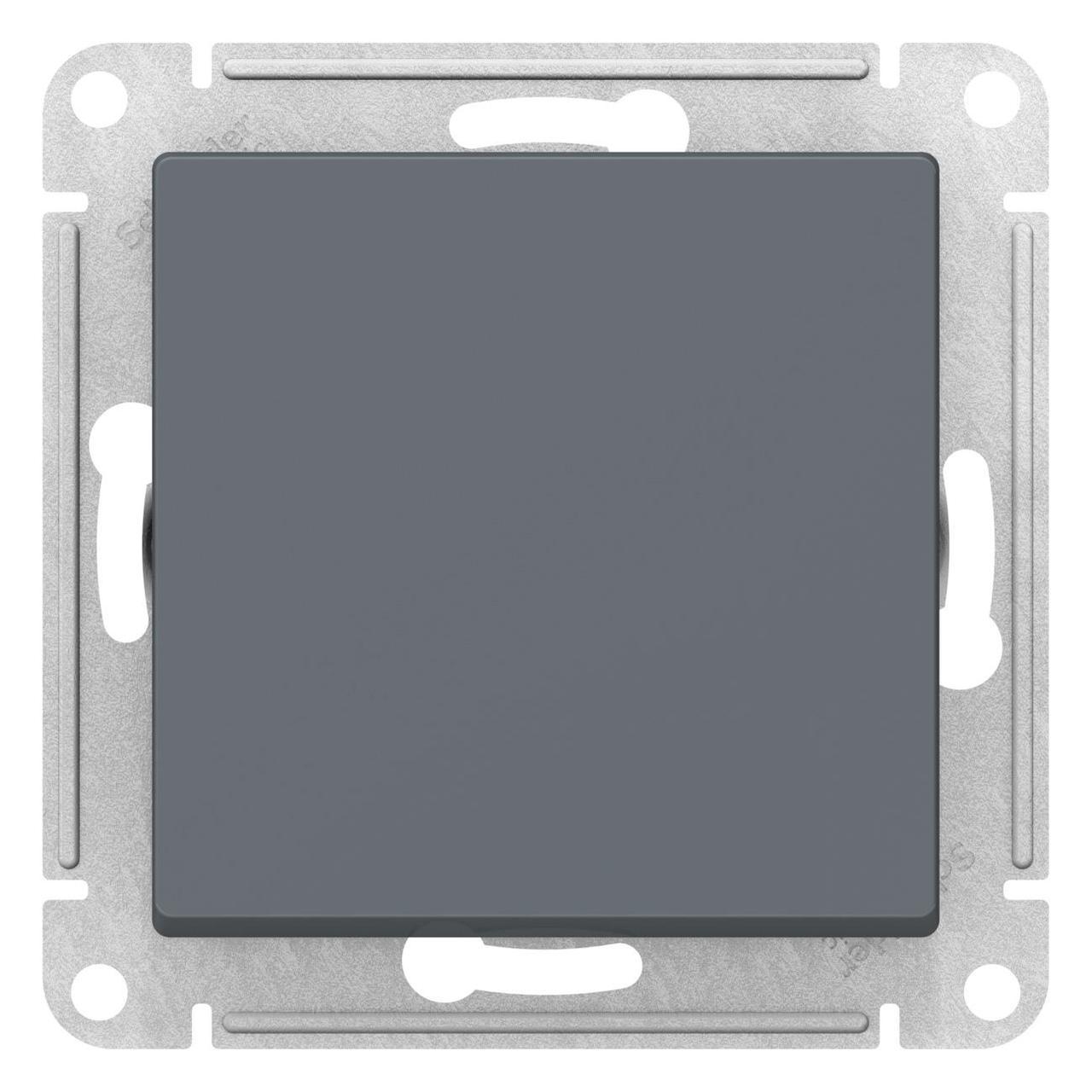 Выключатель 1-клавишный, перекрестный (с трех мест) , Грифель, серия Atlas Design, Schneider Electric