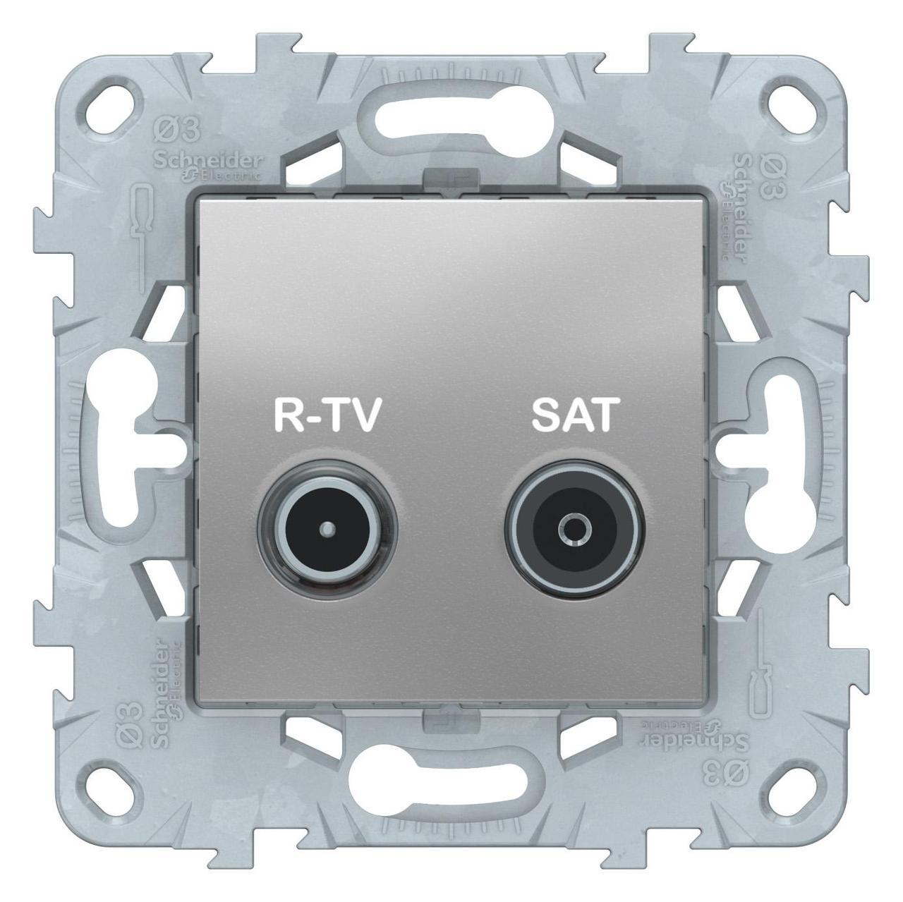 Розетка телевизионная единственная ТV-SAT , Алюминий, серия Unica New, Schneider Electric