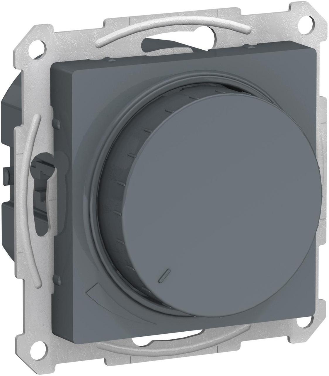 Диммер поворотно-нажимной , 600Вт для ламп накаливания , Грифель, серия Atlas Design, Schneider Electric