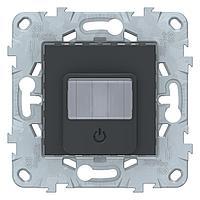 Датчик движения 2300Вт с ручн.упр. 3-х проводная схема, реле , Антрацит, серия Unica New, Schneider Electric