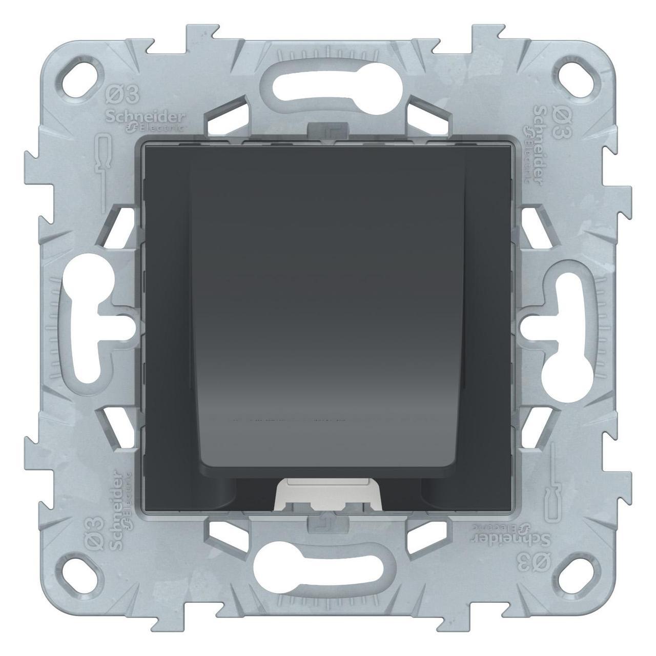 Кабельный вывод , Антрацит, серия Unica New, Schneider Electric