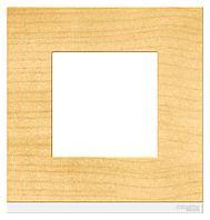 Рамка 1-ая (одинарная), Дерево Клен/Белый, серия Unica Pure, Schneider Electric