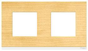 Рамка 2-ая (двойная), Дерево Клен/Белый, серия Unica Pure, Schneider Electric