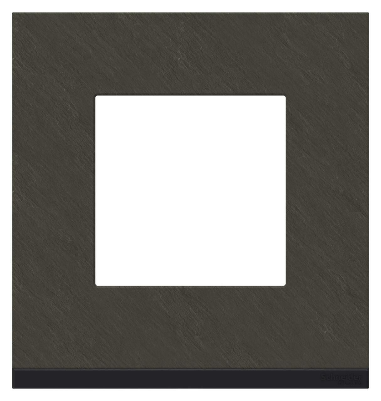 Рамка 1-ая (одинарная), Камень/Антрацит, серия Unica Pure, Schneider Electric