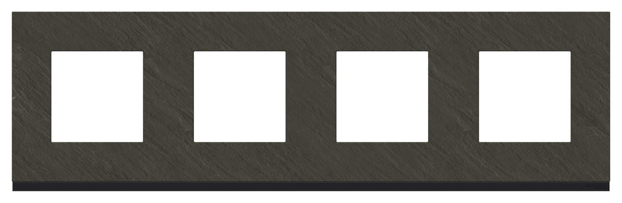 Рамка 4-ая (четверная), Камень/Антрацит, серия Unica Pure, Schneider Electric