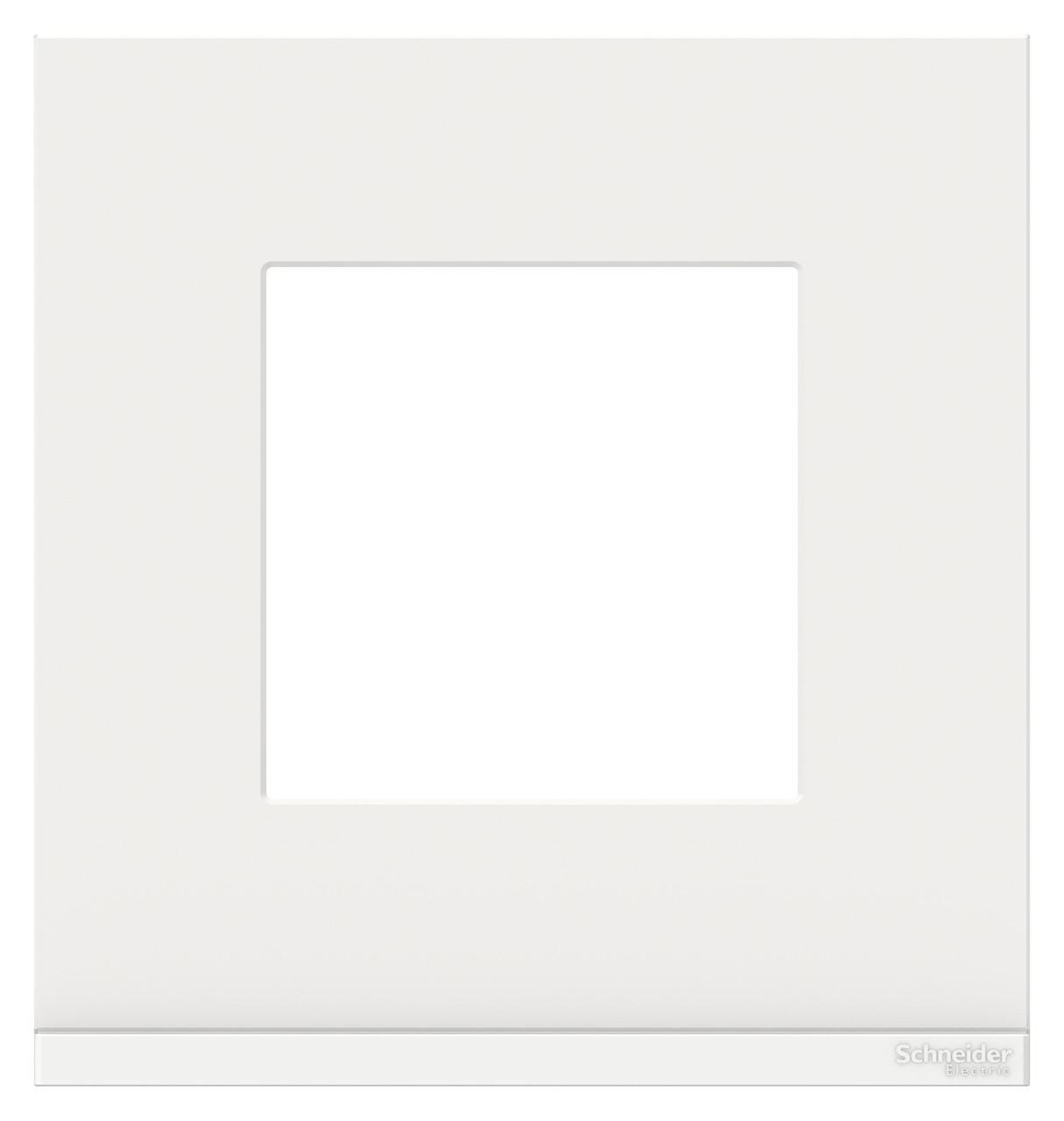 Рамка 1-ая (одинарная), Стекло Белое, серия Unica Pure, Schneider Electric