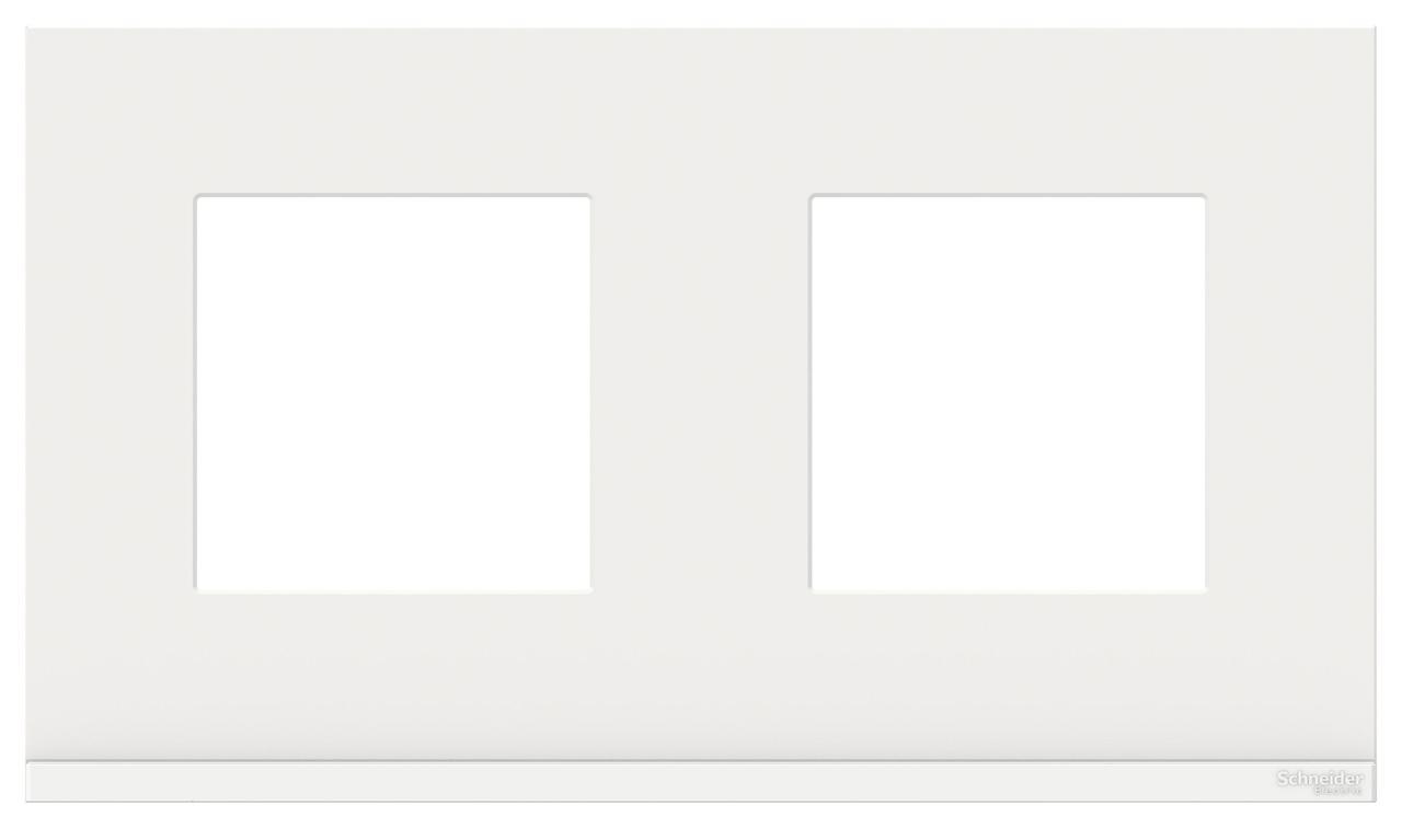 Рамка 2-ая (двойная), Стекло Белое, серия Unica Pure, Schneider Electric