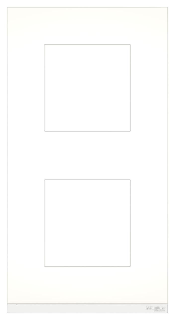 Рамка 2-ая (двойная) вертикальная, Стекло Матовое/Белый, серия Unica Pure, Schneider Electric