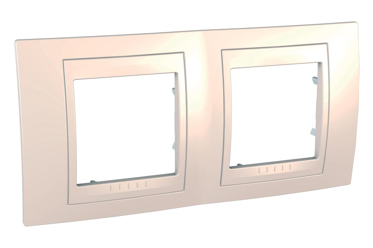 Рамка 2-ая (двойная), Бежевый, серия Unica, Schneider Electric