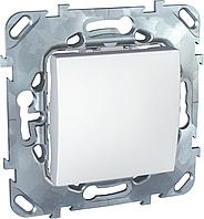 Выключатель 1-клавишный ,проходной (с двух мест) , Белый, серия Unica, Schneider Electric