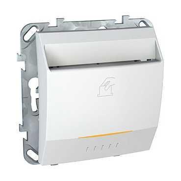Выключатель карточный с задержкой отключения, для гостиниц , Белый, серия Unica, Schneider Electric