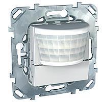 Датчик движения 2300Вт с ручн.упр. 3-х проводная схема, реле , Белый, серия Unica, Schneider Electric