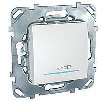 Диммер нажимной (кнопочный) 400Вт для л/н и эл.трансф. , Белый, серия Unica, Schneider Electric