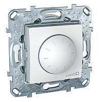 Диммер поворотно-нажимной , 400Вт LED универсальны , Белый, серия Unica, Schneider Electric