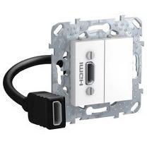 Розетка HDMI 1-ая (разветвительный кабель) , Белый, серия Unica, Schneider Electric