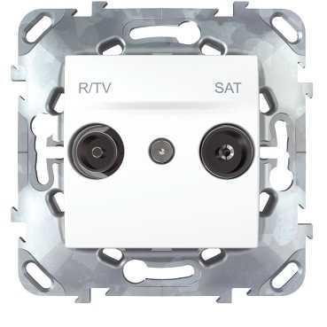Розетка телевизионная единственная ТV-FМ-SАТ , Белый, серия Unica, Schneider Electric