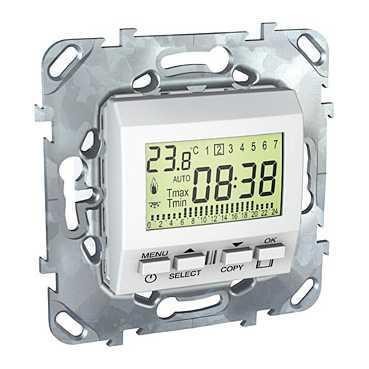 Термостат комнатный программируемый , Белый, серия Unica, Schneider Electric