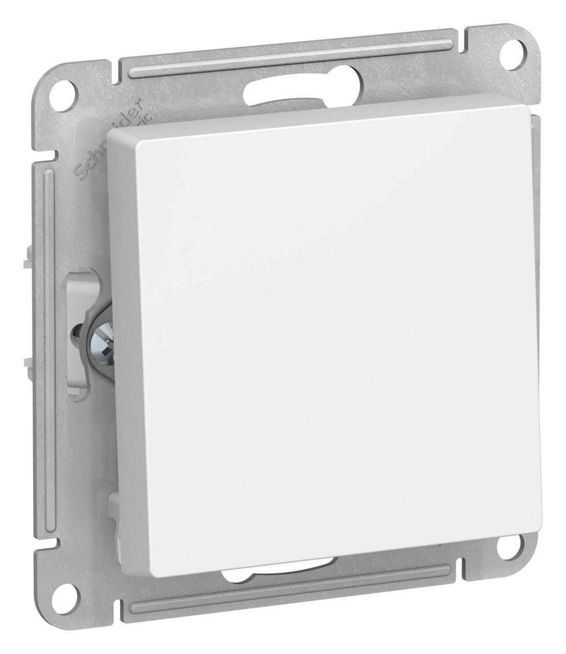 Выключатель 1-клавишный , Белый, серия Atlas Design, Schneider Electric