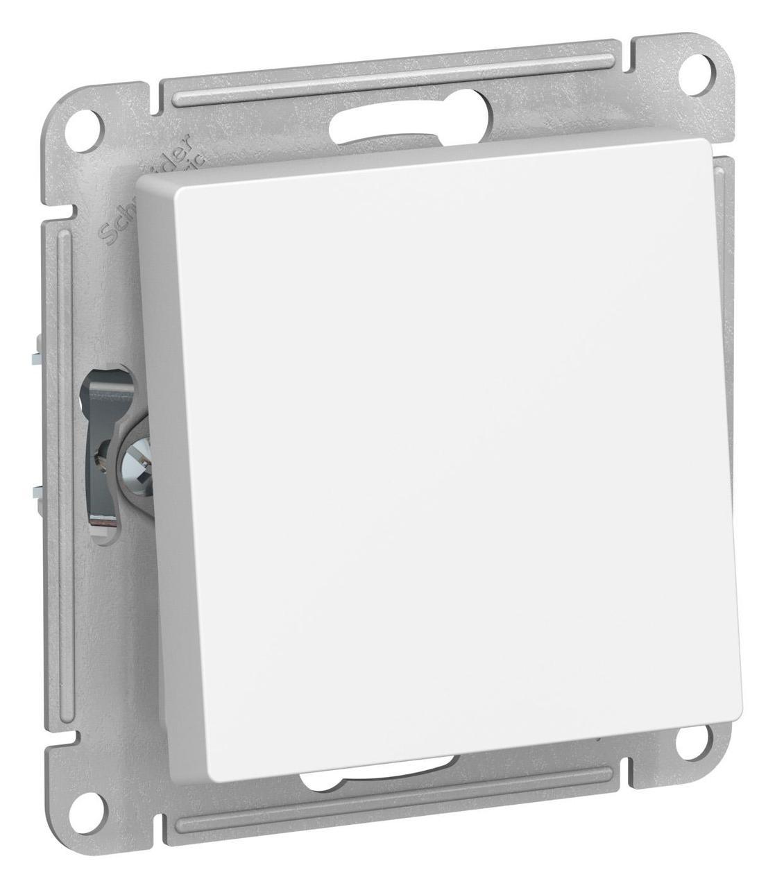 Выключатель 1-клавишный; влагозащищенный IP44 проходной (с двух мест) , Белый, серия Atlas Design, Schneider