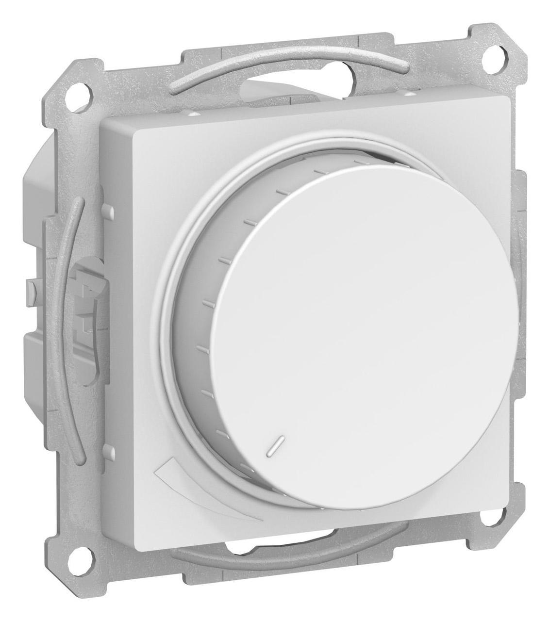 Диммер поворотно-нажимной , 300Вт для ламп накаливания , Белый, серия Atlas Design, Schneider Electric