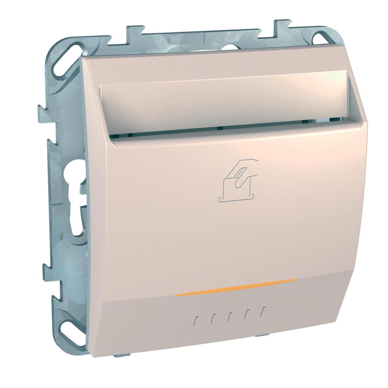 Выключатель карточный с задержкой отключения, для гостиниц , Бежевый, серия Unica, Schneider Electric