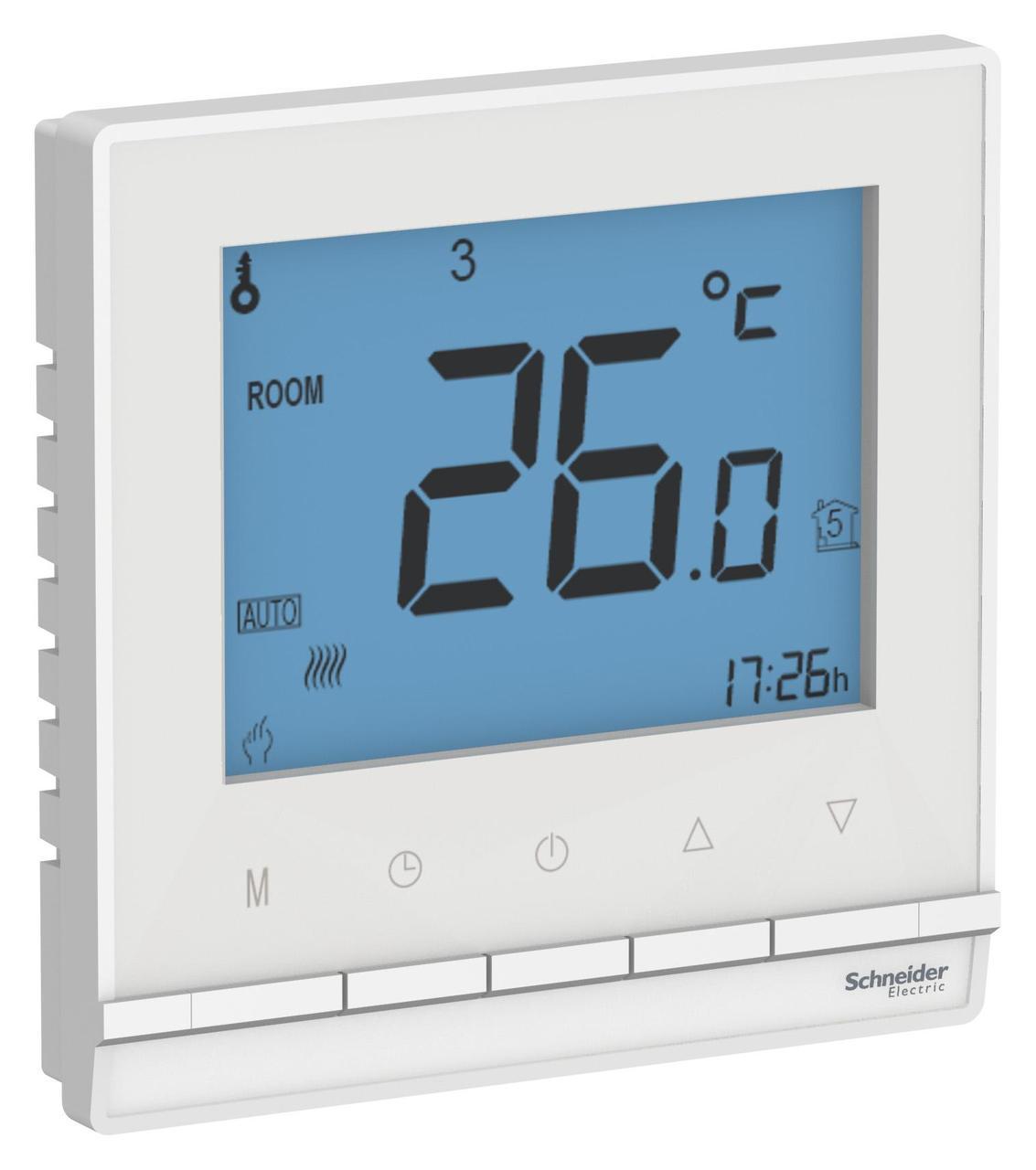 Терморегулятор для теплого пола (в сборе) , Белый, серия Atlas Design, Schneider Electric