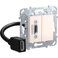 Розетка HDMI 1-ая (разветвительный кабель) , Бежевый, серия Unica, Schneider Electric