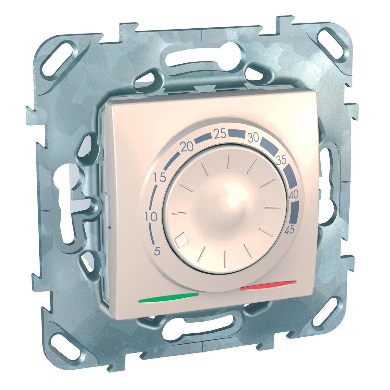 Терморегулятор для теплого пола , Бежевый, серия Unica, Schneider Electric
