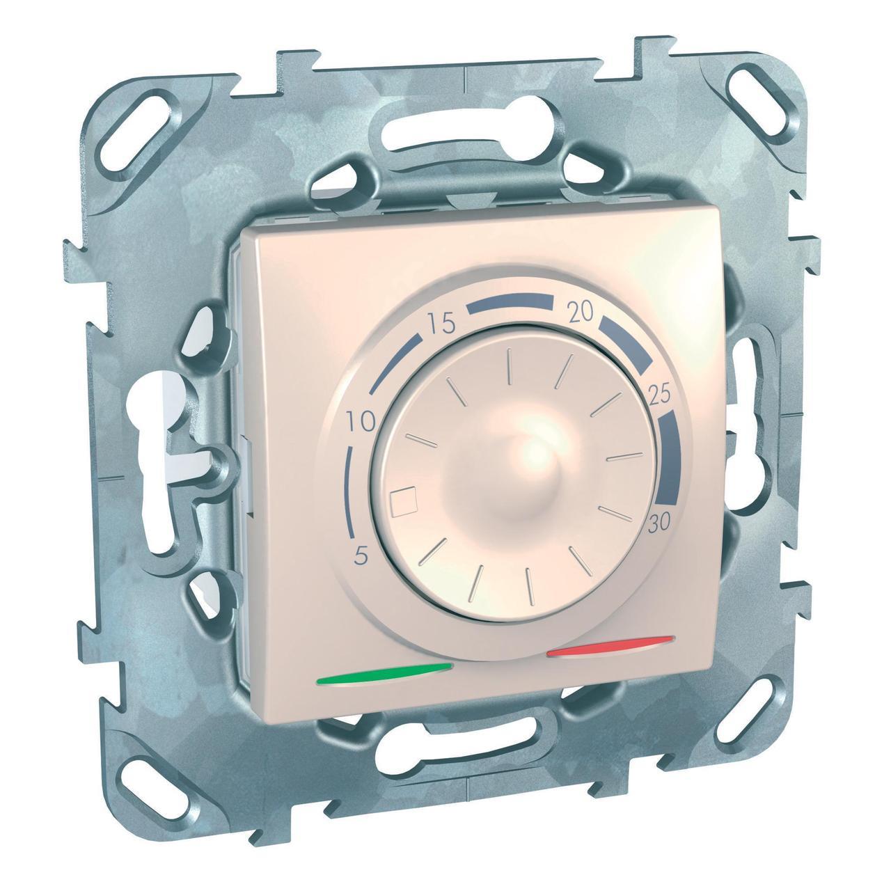 Термостат комнатный , Бежевый, серия Unica, Schneider Electric