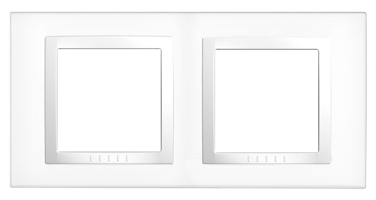 Рамка 2-ая (двойная), Белый, серия Unica, Schneider Electric