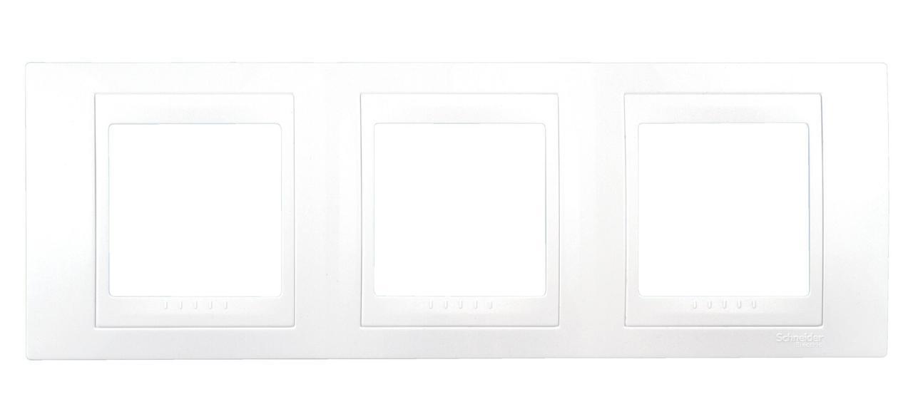 Рамка 3-ая (тройная), Белый, серия Unica, Schneider Electric