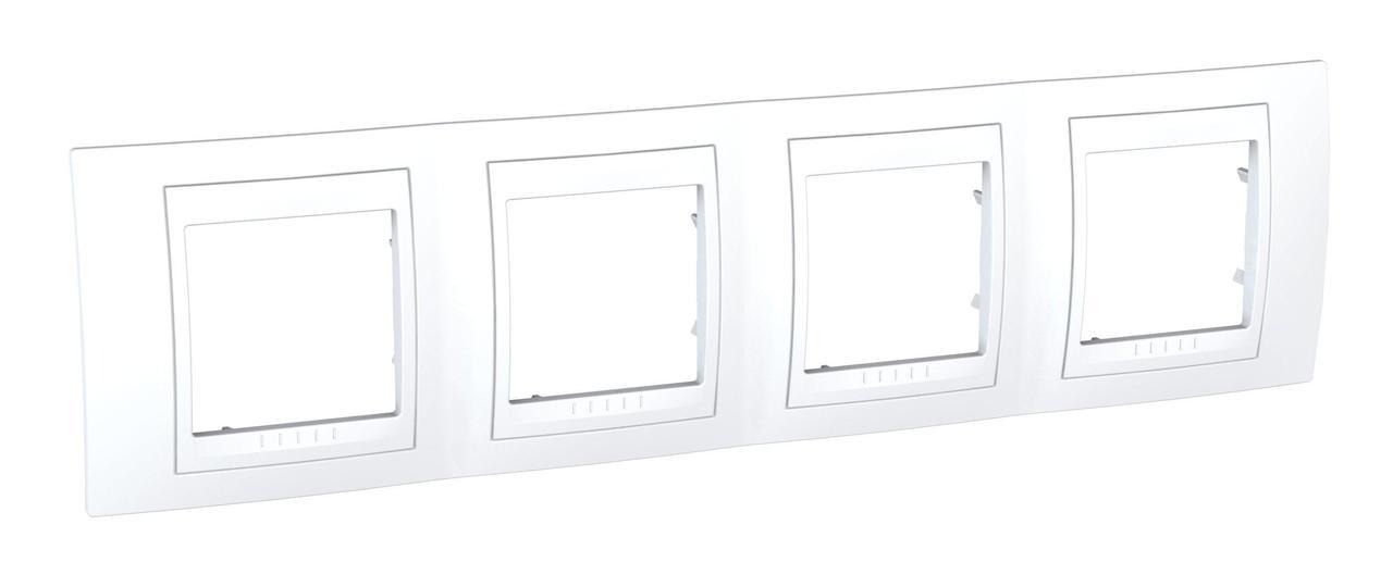 Рамка 4-ая (четверная), Белый, серия Unica, Schneider Electric