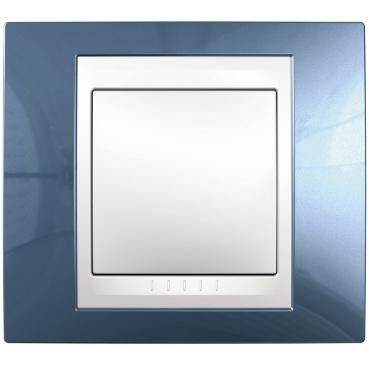 Рамка 1-ая (одинарная), Голубой лед/Белый, серия Unica, Schneider Electric