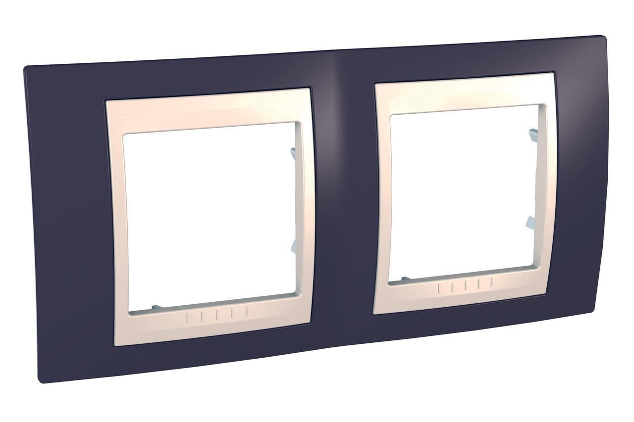 Рамка 2-ая (двойная), Гранат/Бежевый, серия Unica, Schneider Electric