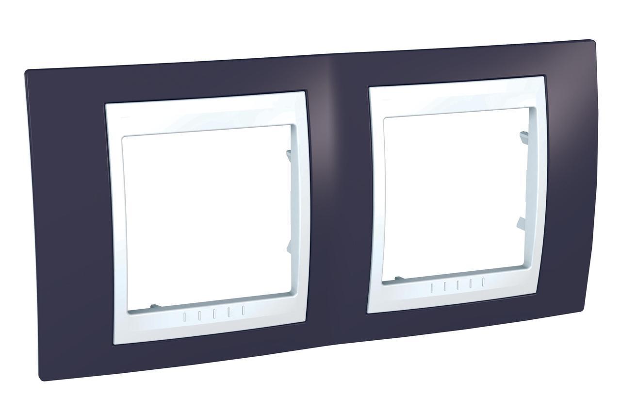 Рамка 2-ая (двойная), Гранат/Белый, серия Unica, Schneider Electric