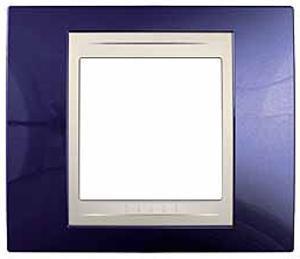 Рамка 1-ая (одинарная), Индиго/Бежевый, серия Unica, Schneider Electric
