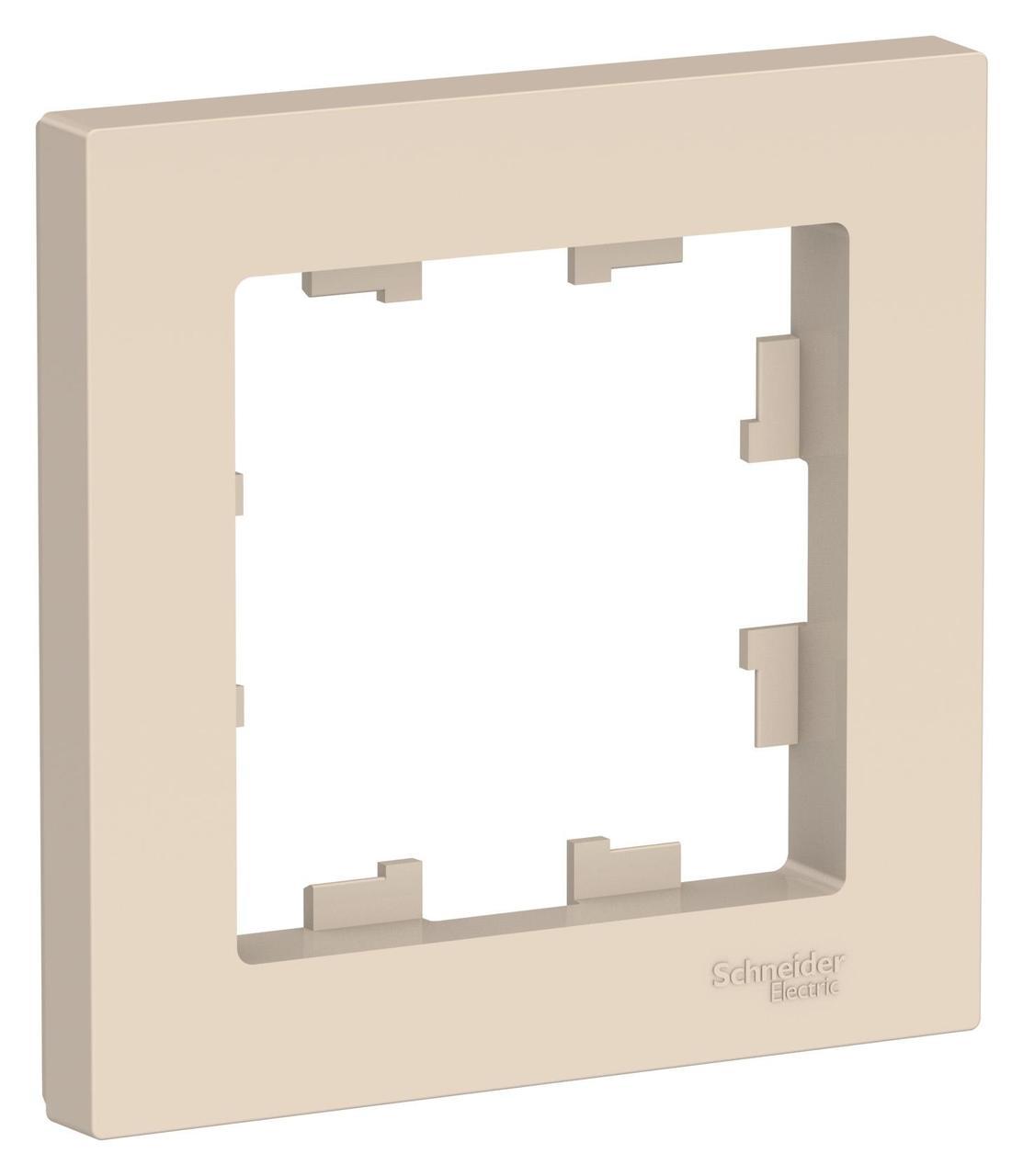 Рамка 1-ая (одинарная), Бежевый, серия Atlas Design, Schneider Electric