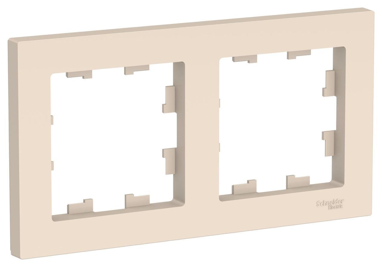 Рамка 2-ая (двойная), Бежевый, серия Atlas Design, Schneider Electric