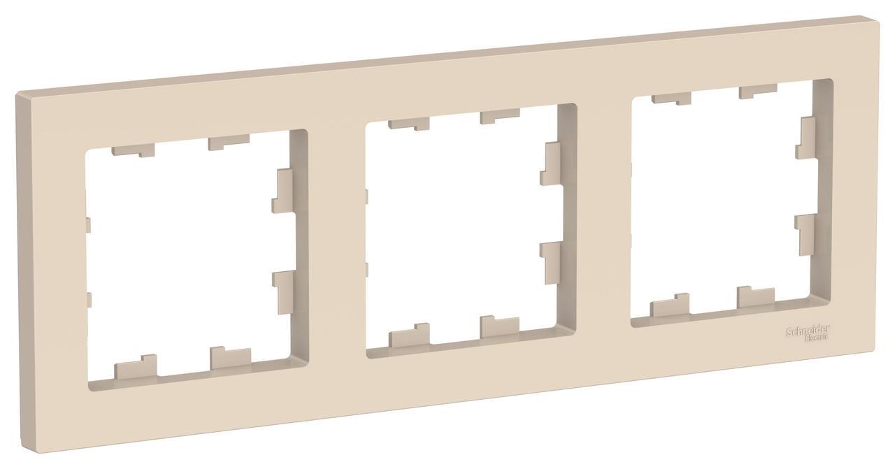 Рамка 3-ая (тройная), Бежевый, серия Atlas Design, Schneider Electric