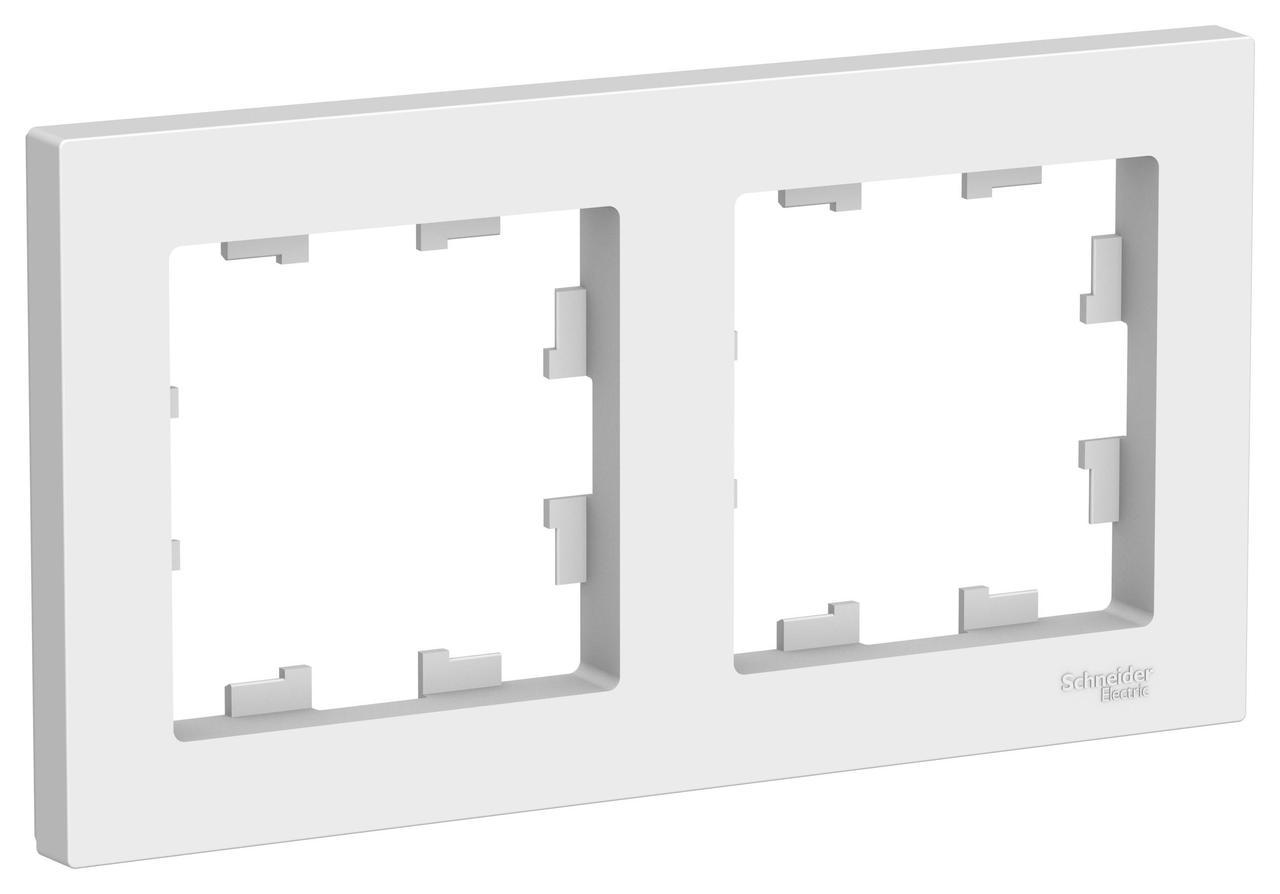 Рамка 2-ая (двойная), Белый, серия Atlas Design, Schneider Electric
