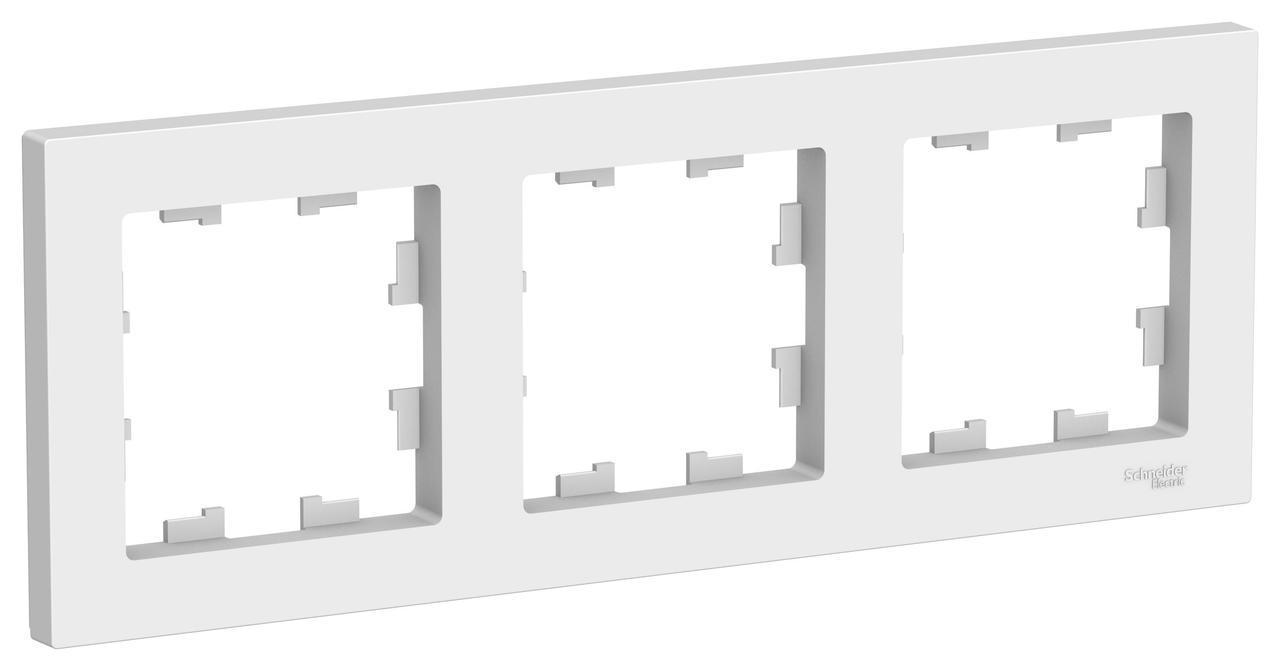 Рамка 3-ая (тройная), Белый, серия Atlas Design, Schneider Electric