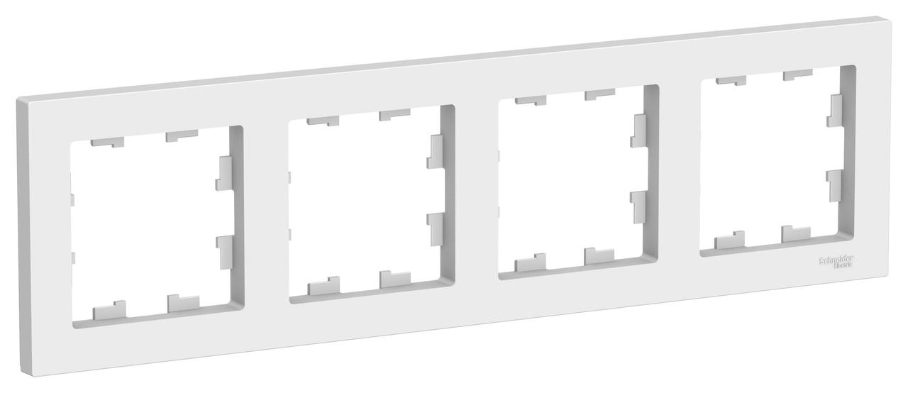 Рамка 4-ая (четверная), Белый, серия Atlas Design, Schneider Electric