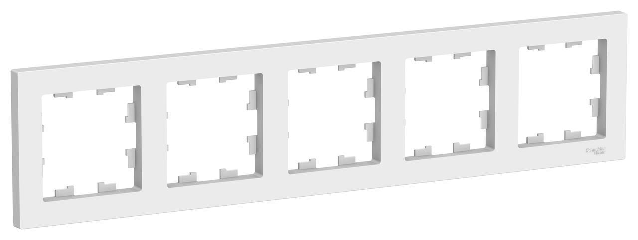 Рамка 5-ая (пятерная), Белый, серия Atlas Design, Schneider Electric
