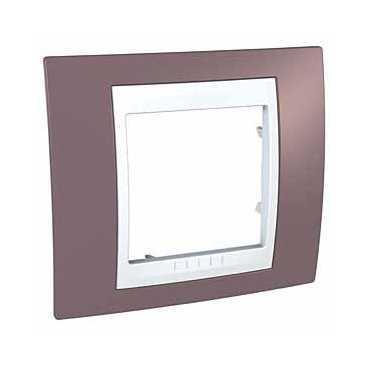 Рамка 1-ая (одинарная), Лиловый/Белый, серия Unica, Schneider Electric
