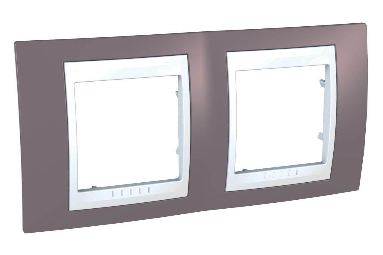 Рамка 2-ая (двойная), Лиловый/Белый, серия Unica, Schneider Electric